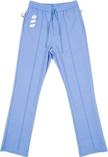 Off White Light Blue Track Pants