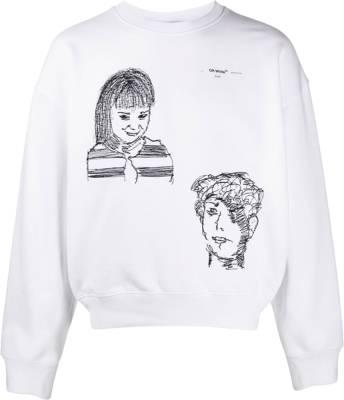 Off White Little Girl Over Sweatshirt