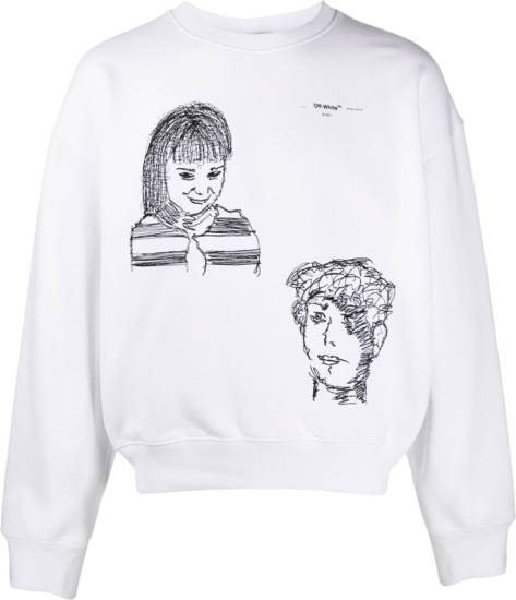 Off White Little Girl Over Sweatshirt