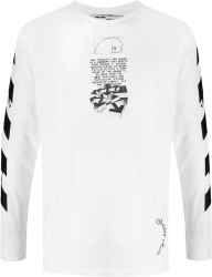 Off White Long Sleeve White Dripping Arrow T Shirt