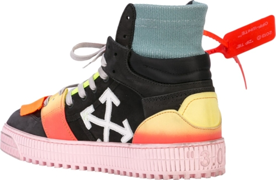 Off White Multicolor High Top Sneakers