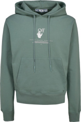 Light Green Graffiti-Logo Hoodie