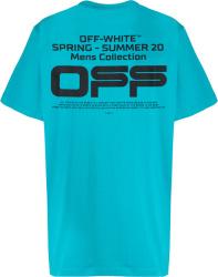 Neon Blue 'OFF' T-Shirt