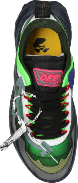 Off White Neon Green Grey Black Odsy Sneakers