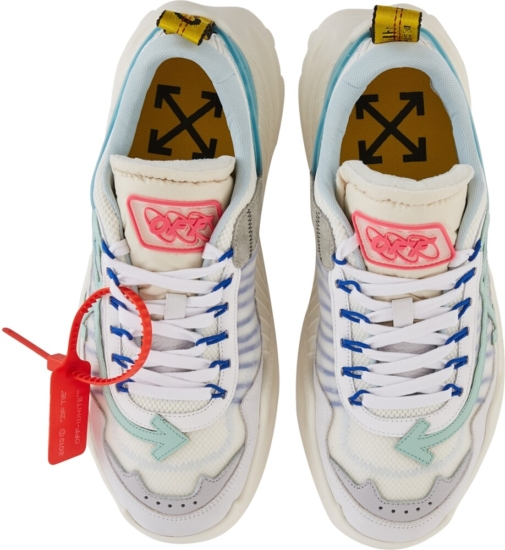 Off White Pale Blue And White Sneakers