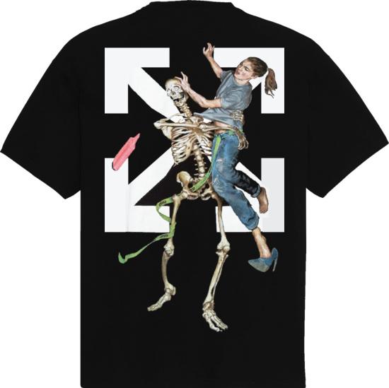 Off White Pascal Skeleton Print T Shirt