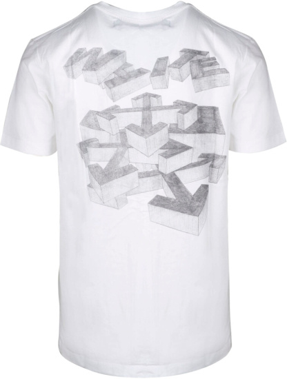Off White Pencil Print Rationalism T Shrit