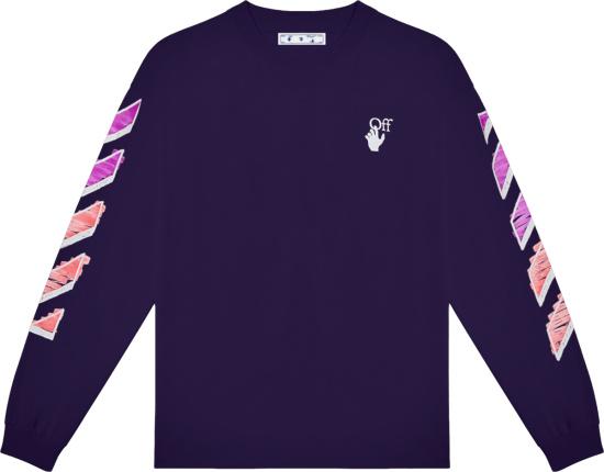 Off White Purple Marker Arrows Long Sleeve T Shirt