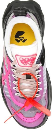Off White Purple Pink Black Sneakers