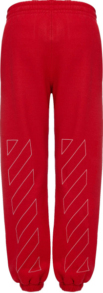 Off White Red Diag Sweatpants