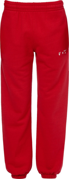 Off White Red Face Logo Sweatpants