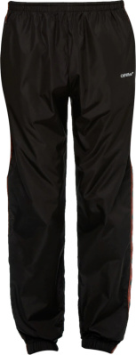 Off White Red Glitter Arrow Stripe Black Trackpants