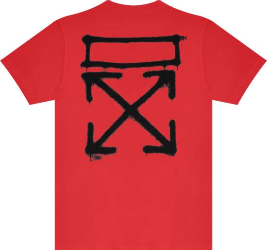 Off White Red Spray Marker T Shirt