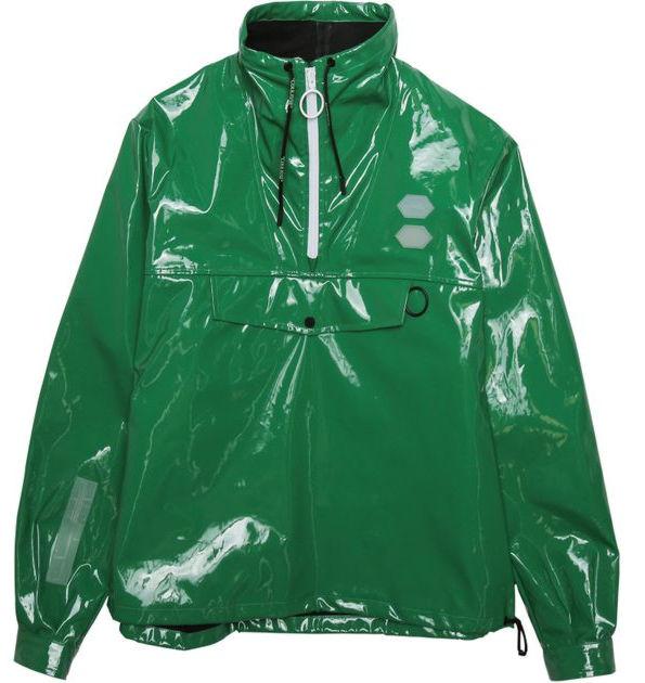 Off White Shiny Green Windbreaker Worn By Nba Youngboy