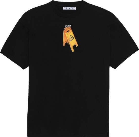 Off White Slip Sign T Shirt