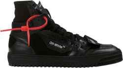 Off White Tirple Black High Top Off Court Sneakers