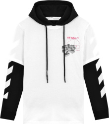 Off White White And Black Layered Hoodie