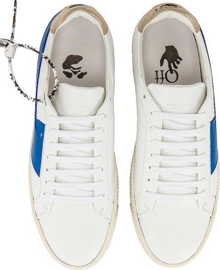 Off White White And Blue Arrow Sneakers