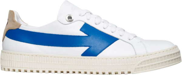 Off White White And Blue Low Top Arrows Sneakers