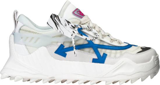 Off White White And Blue Odsy 1000 Sneakers