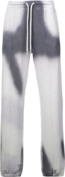 Off White White And Grey Tie Dye Sweatpants