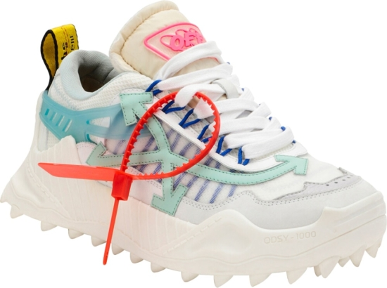 Off White White And Light Blue Odsy 1000 Sneakers