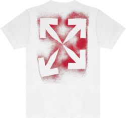 Off White White And Red Stencil Arrows Logo T Shirt