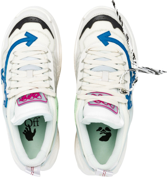 Off White White Blue Pink Odsy 1000 Sneakers