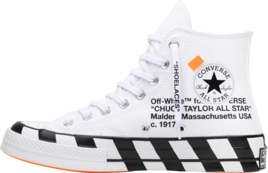 Off White White Canvas High Tops