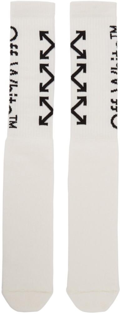 Off White White Logo Socks