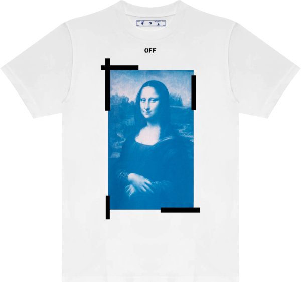 Off White White Mona Lisa Tape T Shirt