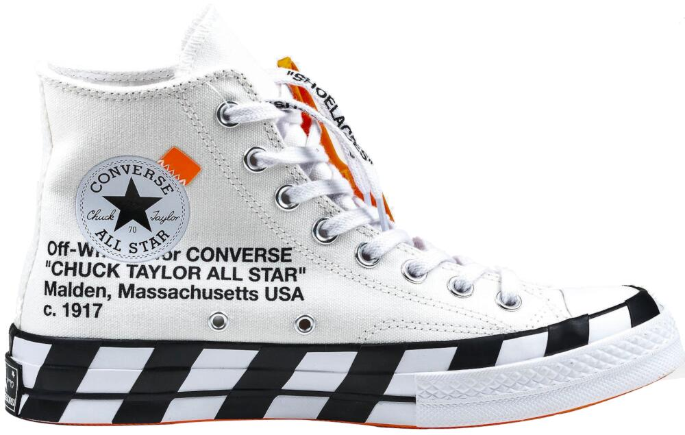 Off White X Converse White High Top Sneakers