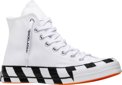 Off White X Converse White High Tops