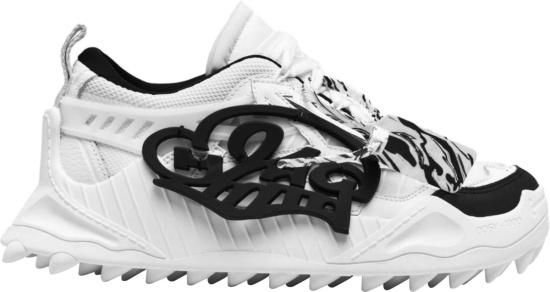 Off White X Katsu White And Black Odsy 1000 Sneakers