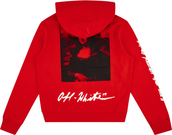 Off White X Mca Figures Of Speece Red Hoodie