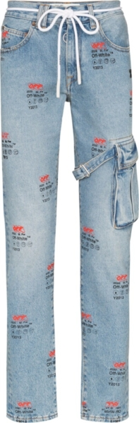 Off White Y2013 Logo Print Jeans