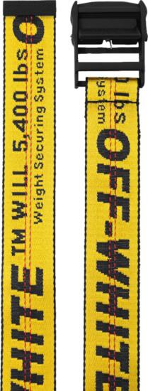 Off White Yellow Black Belt