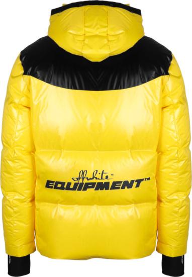 Off White Yellow Equipment Puffer Jacket