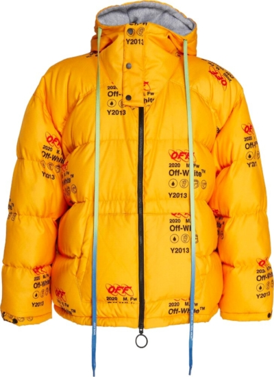 Off White Yellow Puffer Jacket