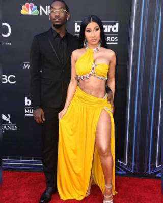 Offset Wearing A Dior Jacket With Cardi B At Billboard Music Awards 2019