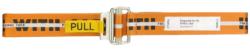 Orange Heron Preston Printed Work Belt With Yellow Pull Tab