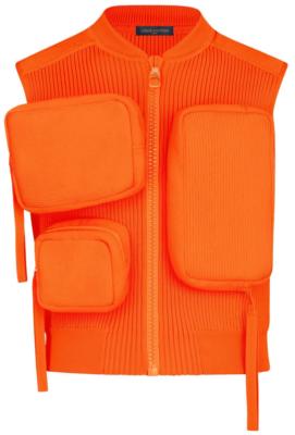 Orange Louis Vuitton Ribbed Utility Vest