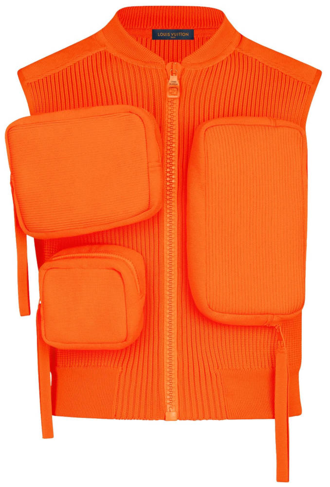 Orange Louis Vuitton Ribbed Utility Vest