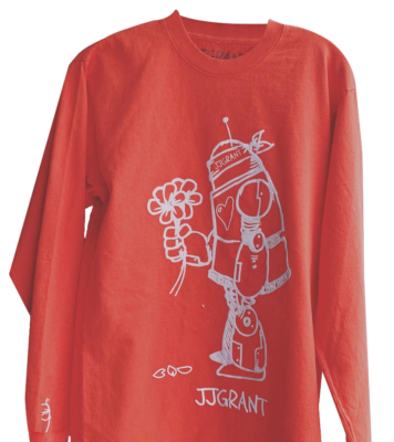 Orange Robot Shirt Worn By A Boogie At Coachella