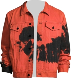Ovadia And Sons Red Tie Dye Denim Jacket