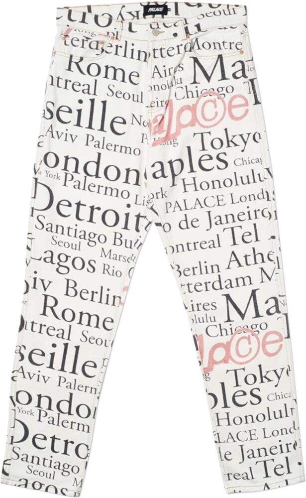 Palace Cityscape White Jeans