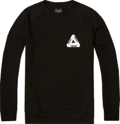 Palace Tri Line Black Crewneck Sweatshirt