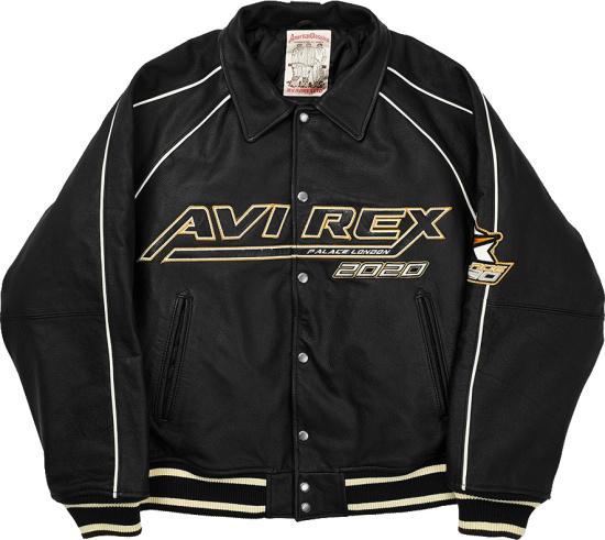 Palace X Avirex Black And White Trim 2020 Jacket