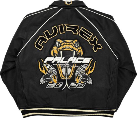 Palace X Avirex Black Snake Patch Jacket
