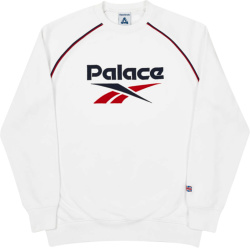Palace X Reebok White Pbok Sweatshirt